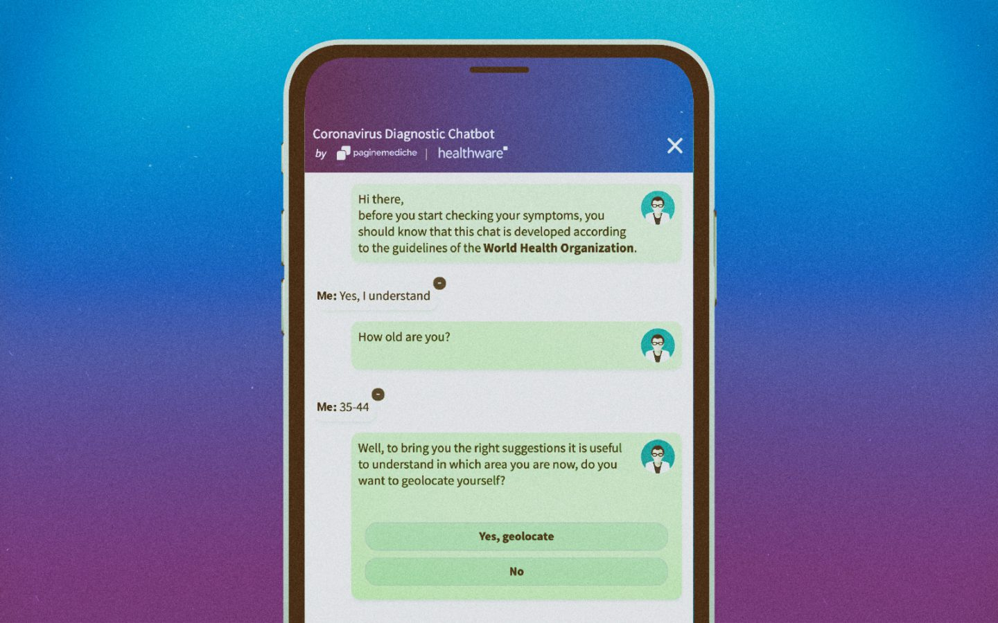 The Coronavirus Diagnostic Chatbot by Paginemediche is now available in multiple languages