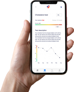 Blood test results can be tracked via Revolab's app